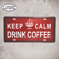 Skardinė lentelė - keep calm and drink coffee